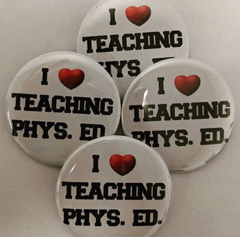I Heart Teaching Phys Ed Buttons Digital Sheet