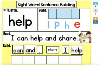 1st Grade & Kindergarten Sentence Building - Mix & Fix Sentences