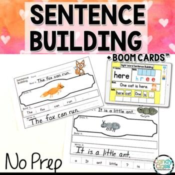 Sight Word Sentence Building Activities: Kindergarten Writing Center Activities