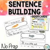 Sight Word Sentence Building Kindergarten Digital Boom Cards Reading and Writing