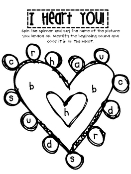I Heart You Freebie- Spin and Color