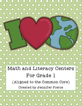 """I """"Heart"""" the Earth!  Grade One Earth Day Centers for Literacy and Math"""