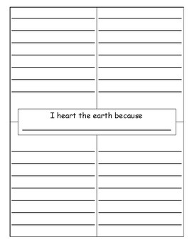 I Heart the Earth Writing Activity