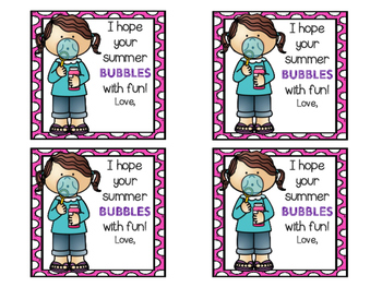 I Hope Your Summer Bubbles With Fun {End of Year Gift Tags}