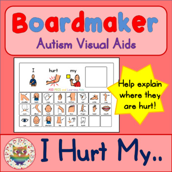 I Hurt My... Board and Symbols - Boardmaker Visual Aids for Autism Non-Verbal