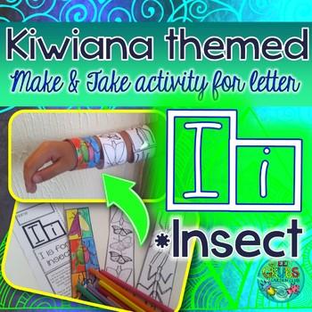 I = INSECT {Kiwiana Themed 'Make & Take' Alphabet Set}