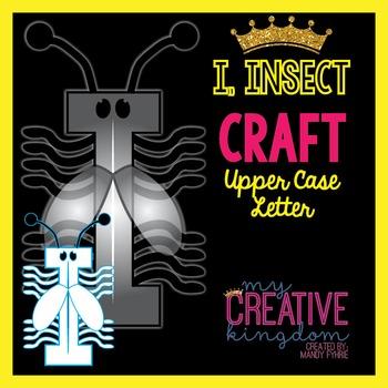 I - Insect Upper Case Alphabet Letter Craft