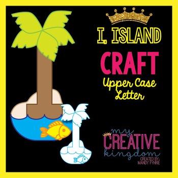 I - Island Upper Case Alphabet Letter Craft