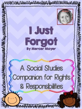 I Just Forgot: A Rights & Responsibilities Social Studies Unit For Kindergarten