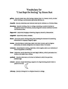 """""""I Just Kept Smiling"""" by Simon Burt: Short Story Work"""
