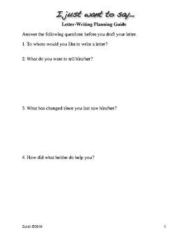 I Just Want to Say... Friendly Letter Lesson Plan