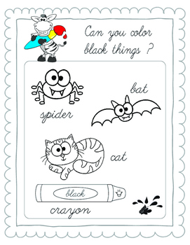I KNOW MY COLORS Workbook  CURSIVE LETTER