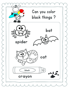 I KNOW MY COLORS Workbook SCRIPT  LETTER