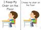 I Keep My Chair on the Floor Social Story