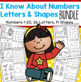 I Know About Numbers, Letters and Shapes BUNDLE