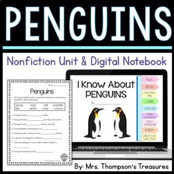 Penguins: Nonfiction Mini Unit & Graphic Organizers