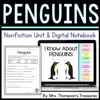 Penguins: Nonfiction Mini Unit & Graphic Organizers