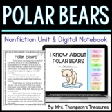 Polar Bears: Nonfiction Mini Unit & Graphic Organizers