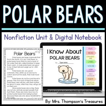 Polar Bears: Nonfiction Mini Unit & Graphic Organizers
