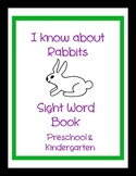 I Know About Rabbits Sight Word Book Parts of the Body Easter