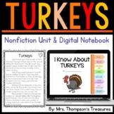 TURKEYS: Nonfiction Mini Unit & Graphic Organizers