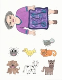 I Know An Old Lady- DIY Printable Felt Board, Stick Puppets, Craft