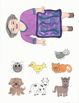 photo regarding Printable Felt Board Stories referred to as I Comprehend An Aged Female- Do-it-yourself Printable Felt Board, Adhere Puppets, Craft