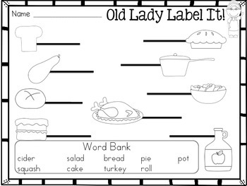 I Know An Old Lady Who Swallowed A Pie {math and literacy pack}