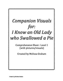 I Know An Old Lady Who Swallowed a Pie Comprehension Sheet