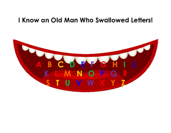 I Know An Old Man Who Swallowed Letters Digital Book