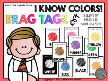 I Know Colors Brag Tags (10 Different Color Brag Tags)