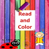 PreK, Kindergarten Know Colors Emergent Reader- Sight Word Book
