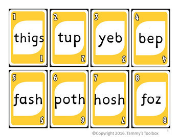 Crazy Words Bundle: Phonics Card Games Decoding Nonsense Words