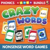 Phonics Card Games for Decoding Nonsense Words Bundle