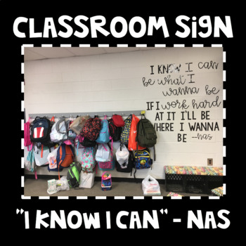 I Know I Can Classroom Sign