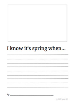 I Know It's Spring When Writing Prompt