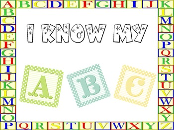 I Know My ABC, Appreciation Award / Certificate