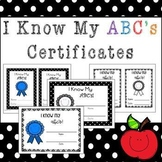 I Know My ABC's Certificate