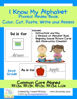 I Know My Alphabet Phonics Review Book