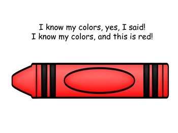 I Know My Colors Book