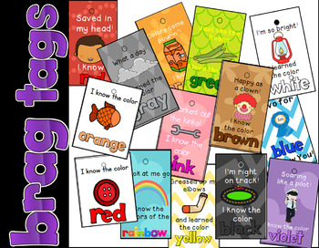 I Know My Colors! Brag Tag bundle (sunnah Learners)