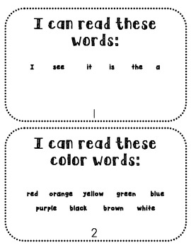 I Know My Colors {Emergent Reader}