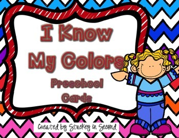 {$1 Deal} I Know My Colors: Preschool Cards