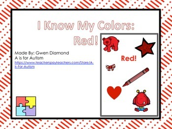 I Know My Colors: Red! Interactive Reader
