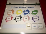 I Know My Colors UNIT- File Folder Games, Worksheets, Work