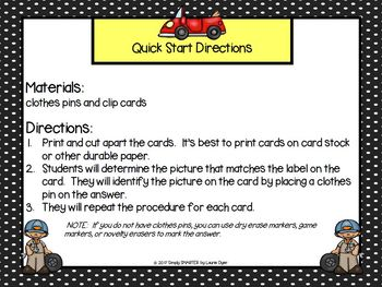 LOW PREP Community Helper Themed Reading Comprehension Clip Cards
