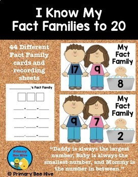 I Know My Fact Families to 20