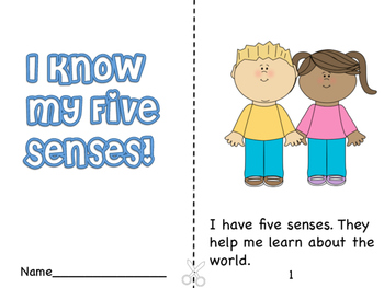 I Know My Five Senses Booklet