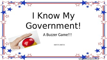 I Know My Government!! A buzzer game!