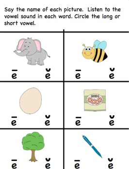 I Know My Long and Short Vowel Sounds!